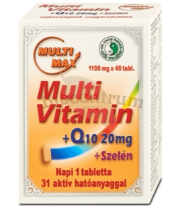 MultiMax Multivitamín + Q10 + Selén 40 ks