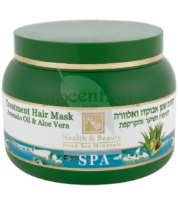 H B Vlasová maska s avokádovým olejom a aloe vera 250ml b89b80f0ab6